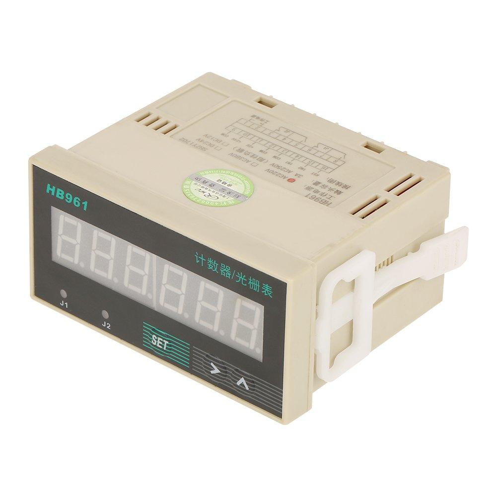 WALFRONT 0-999999 Counter Up & Down AC 220V LED Digital Display 6 Digits Panel Reversible