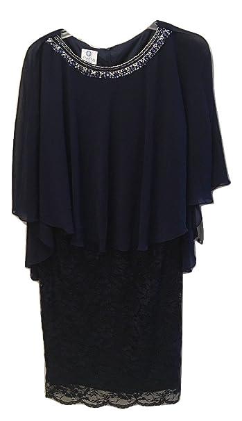 Patra Plus Size Lace Capelet Dress Navy Sz 18w Amazon Clothing