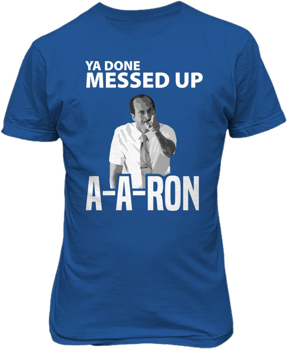 KINGS SPORTS Reyes Deportes ya Hecho Messed up Aaron aa-Ron Camiseta para Hombre