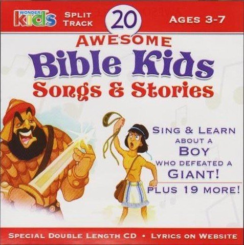 Price comparison product image 20 Awesome Bible Kids Songs & Stories Ages 3-7 Split Track