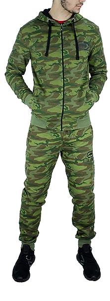 Ecko - Chándal para Hombre, diseño de Camuflaje, Color Verde Camo ...