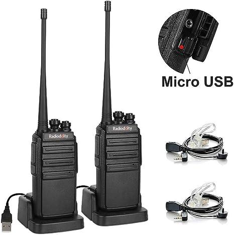 Amazon.com: Radioddity GA-2S UHF Radio de dos vías 16 CH ...