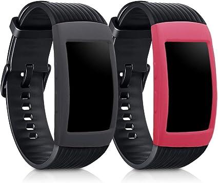 kwmobile 2 Fundas para Samsung Gear Fit2 / Gear Fit 2 Pro: Amazon ...