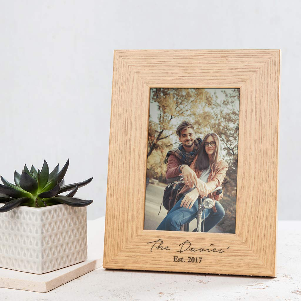 Amazon Com Personalized Family Photo Frame Wedding Photo Frame Personalized Gift For Couples New Home Picture Frames Newly Engaged Gifts Handmade