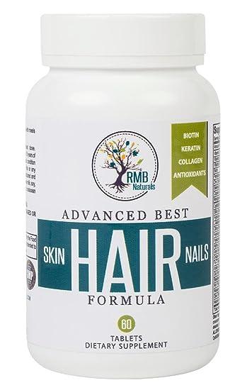 Amazon.com: Hair Skin & Nails Vitamins- Premium - Biotin 5000 ...