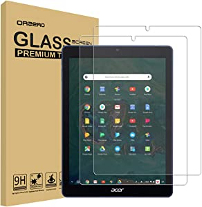 Orzero Compatible for Acer Chromebook Tab 10 Tempered Glass Screen Protector, Orzero 2.5D Arc Edges 9 Hardness HD Anti-Scratch Anti-Fingerprint (Lifetime Replacement)