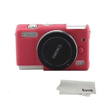 TUYUNG - Funda Protectora para cámara de Fotos Canon EOS M100 (Silicona), Color Rosa