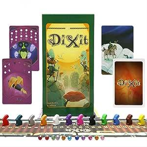 YPF Dixit 1 2 3 4 5 6 7 8 Juego De Mesa, Un Total De 672 Tarjetas, Juguetes Educativos para Niños para Actividades Familiares, Un Juego De Cartas para 12 Jugadores 96 * 62.5mm Un: Amazon.es: Hogar