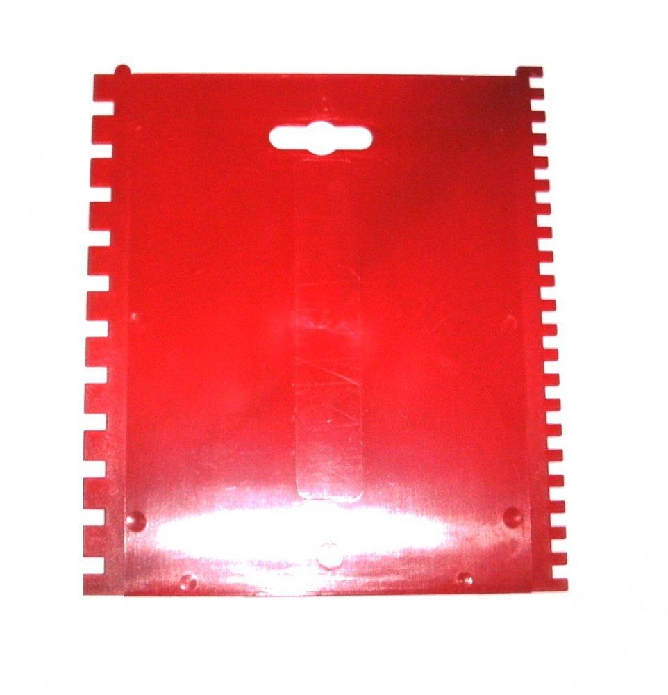 Kleber-Leimspachtel Kunststoff Zahnspachtel C1/C2 4x4mm/6x6mm 150x170mm Holtmann Werkzeuge GmbH