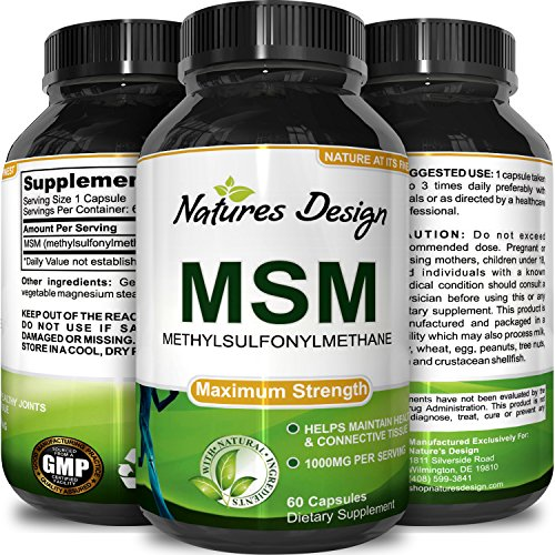 Pure MSM Supplement Capsules Anti Wrinkle