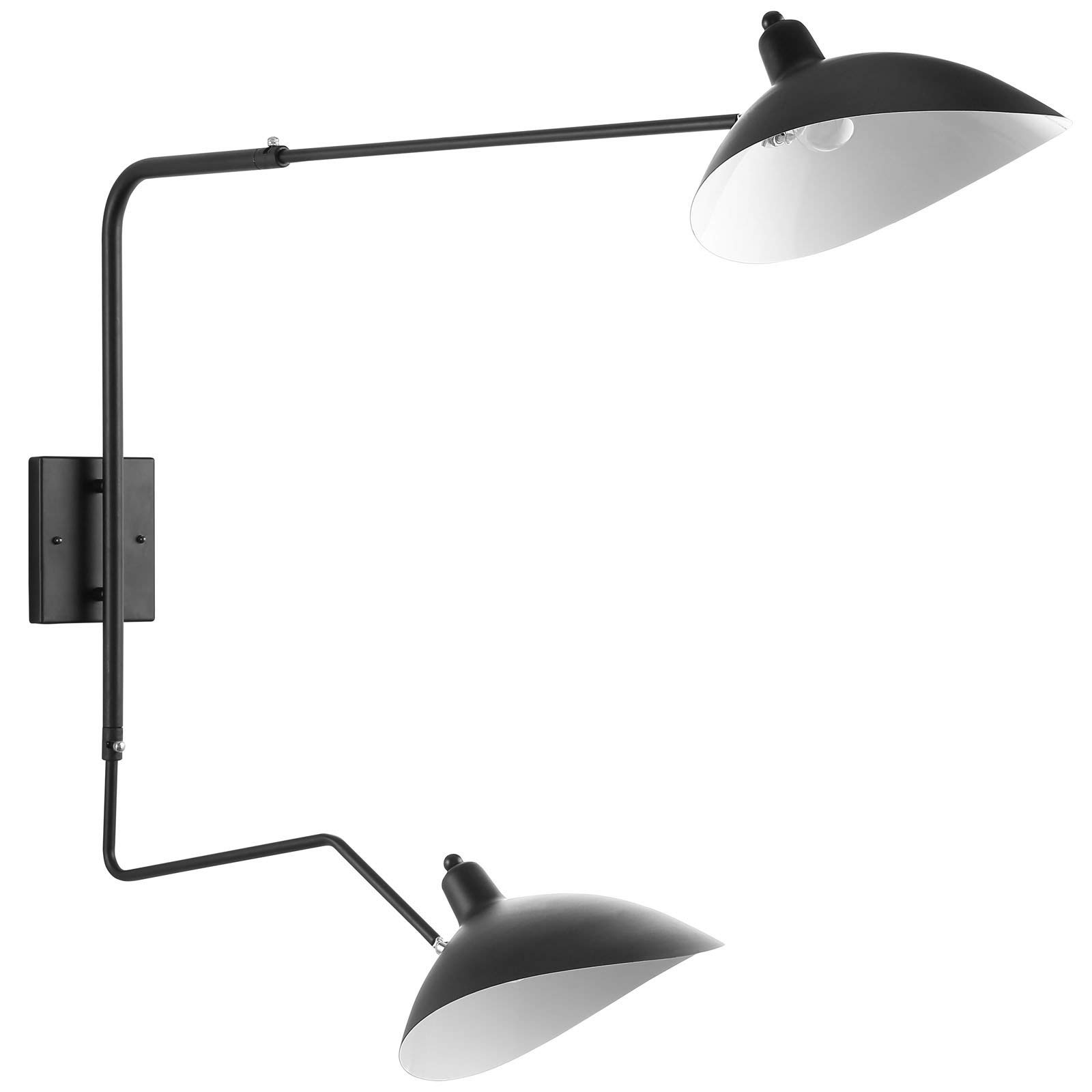 Modway View Double Fixture Wall Lamp, Black