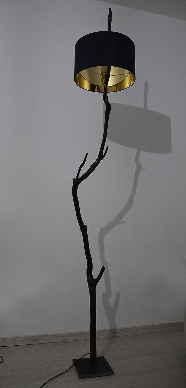 Lámpara de pie en rama de roble madera recuperada moderna ...