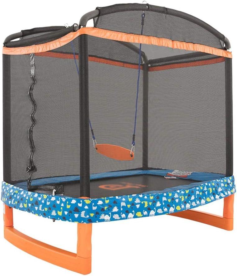 保護ネットが付いているトランポリンの家の屋内振動トランポリン適性のおもちゃは100のkgに耐えることができます (Color : オレンジ, Size : 182.8*127*186CM) オレンジ 182.8*127*186CM