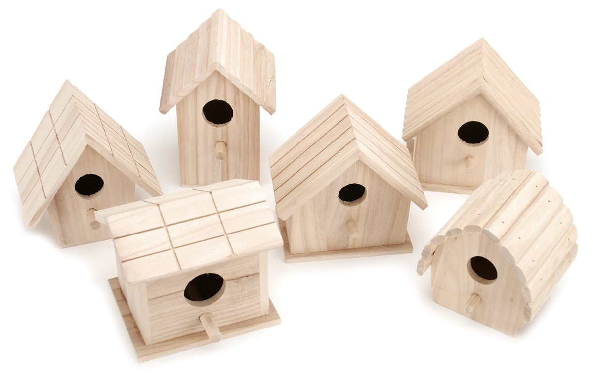 Darice Wooden Birdhouse-1 of 6 Assorted Styles