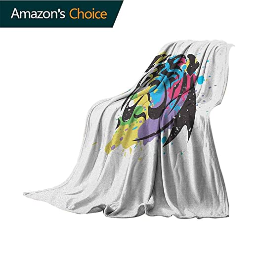 Manta de franela ultrasuave con diseño de bulldog inglés, bicolor ...