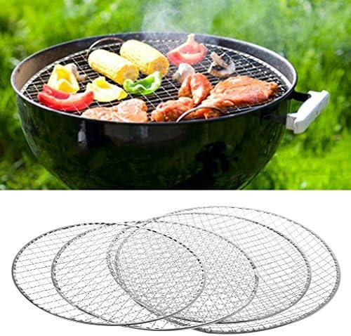 LyGuy Grille de Barbecue jetable en Maille filetée pour Viande, Poisson, légumes, 26 cm
