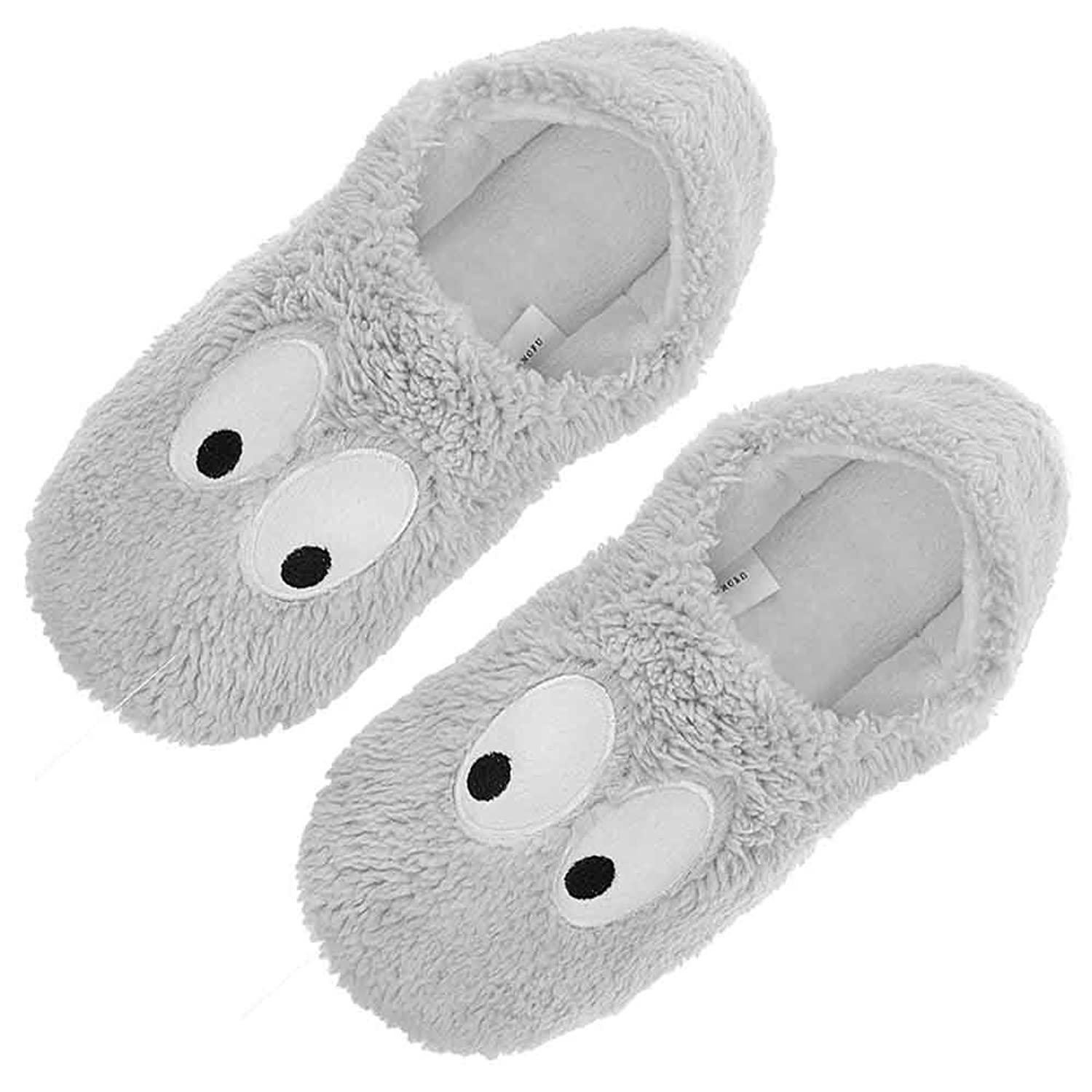 women girl funny cartoon big eyes slippers soft sole cotton house