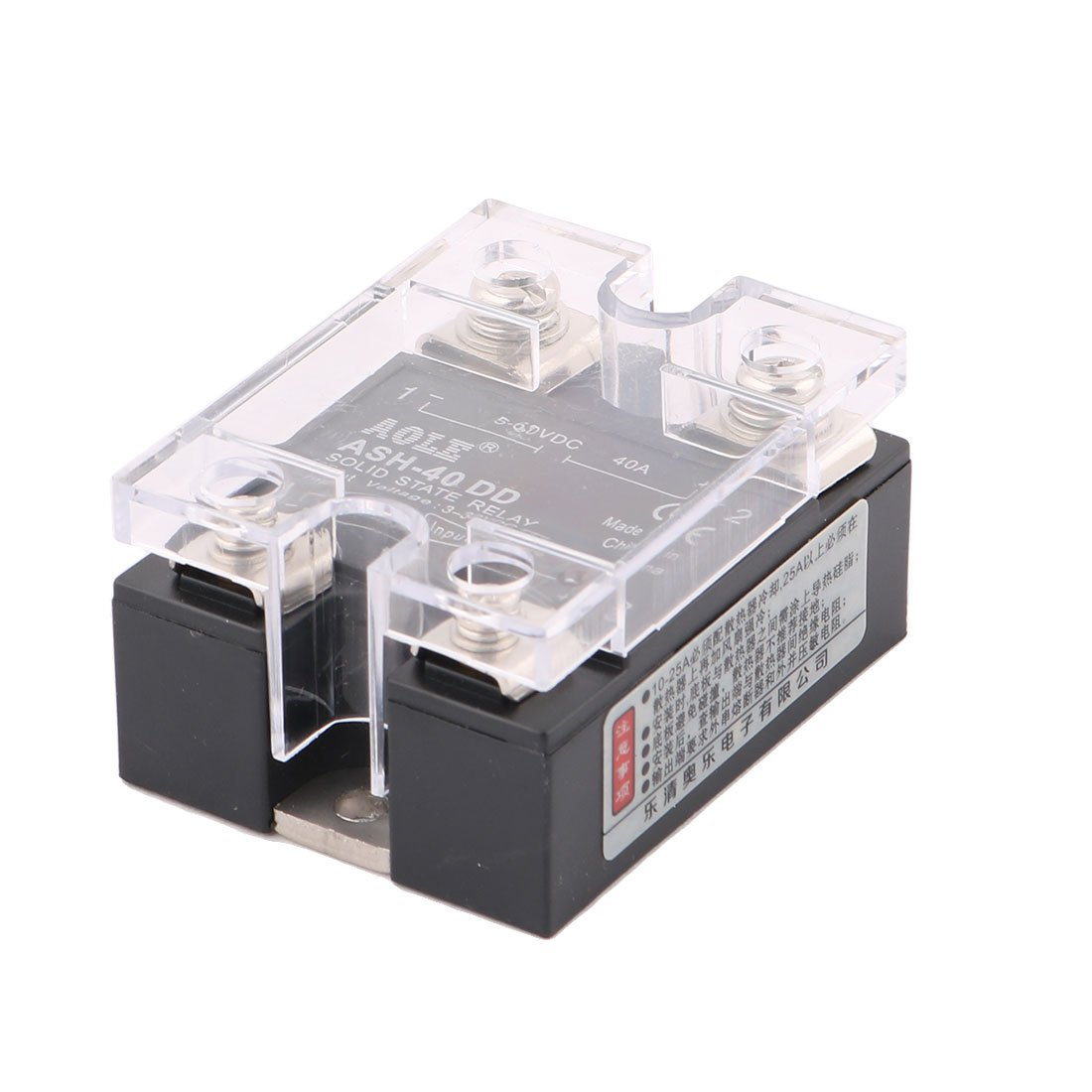 Uxcell Ash 40dd 3 32vdc To 5 60vdc 40a Single Phase Solid State Dc Relay Medium Power Acsolid