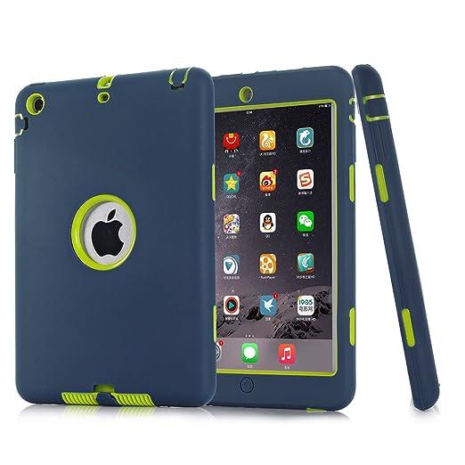 161 opinioni per iPad Mini 1/2/3 Custodia, TKOOFN Custodia Ibrida Antiurto Resistente Tre-strati