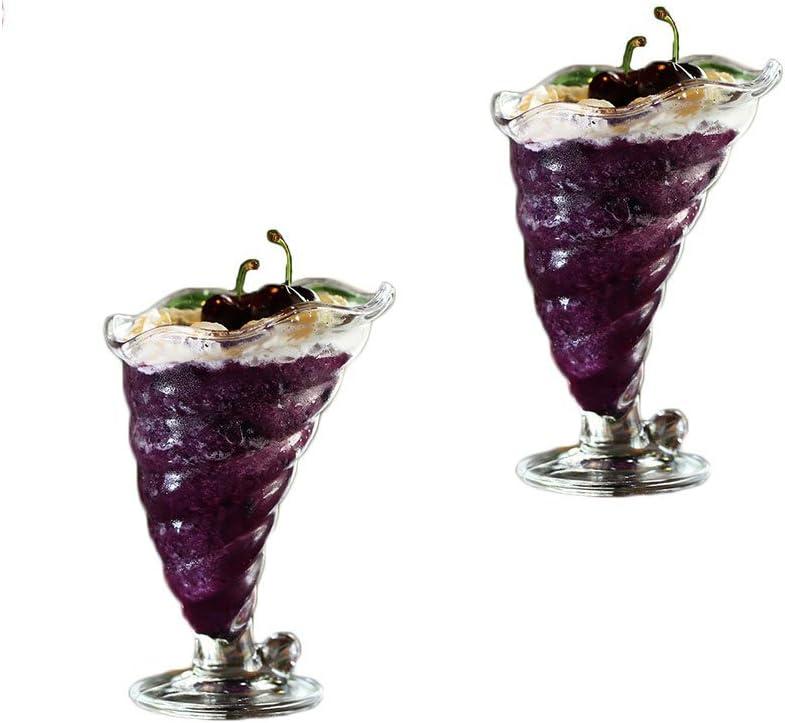 Cristal para helado batidos y gafas Set de 2/carcasa estilo