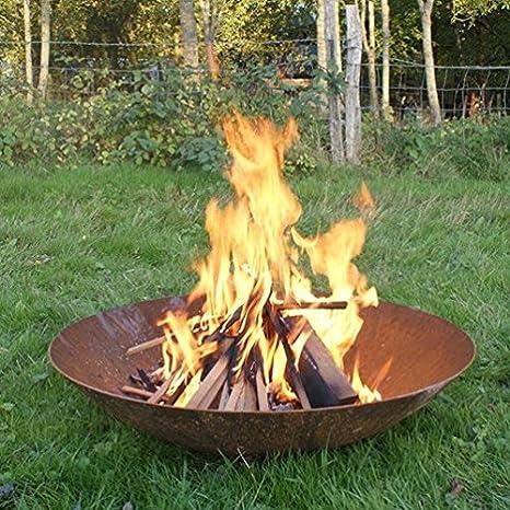 Tazón de acero Corten óxido acabado - hoyos del fuego quemadores 80 cm hemstedt característica calentador de Patio muebles jardín: Amazon.es: Jardín