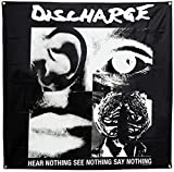 Discharge Hear Nothing Flag Fabric Poster 48 x 48in