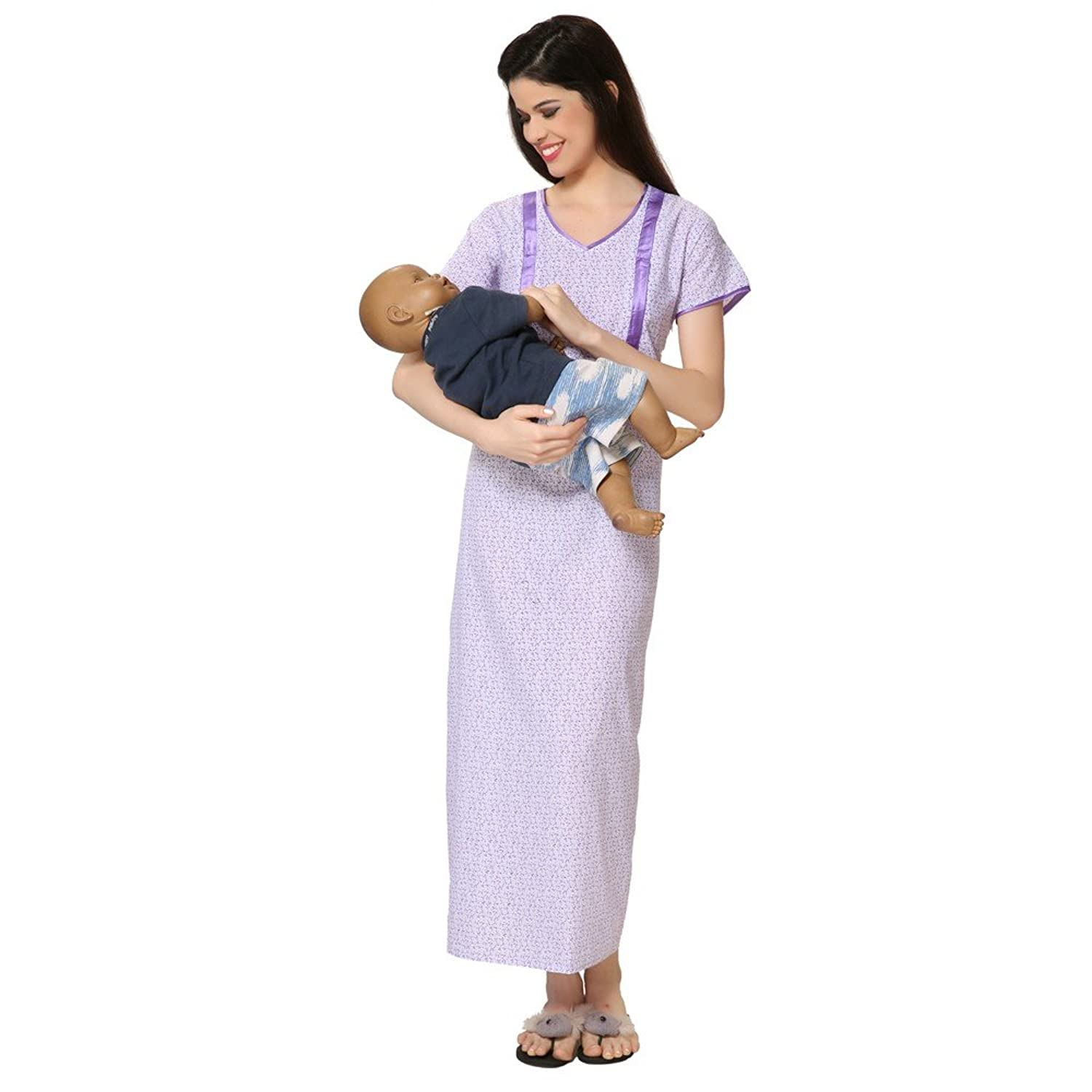 Womens feedingmaternity nighty gown amazon clothing womens feedingmaternity nighty gown amazon clothing accessories ombrellifo Choice Image