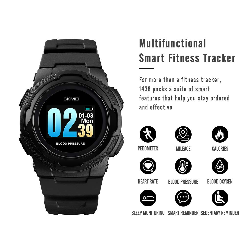 Smart Watch for Men Compatible with Android iPhone Samsung, Heart Rate Blood Pressure Oxygen Sleep Monitor Pedometer GPS, Waterproof Sport Fitness Tracker Smartwatch by LB LIEBIG (Image #2)