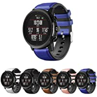 Pulseira Híbrida Couro e Silicone para Amazfit GTR 47mm - Samsung Galaxy Watch 46mm - Gear S3 Frontier - Gear S3 Classic…