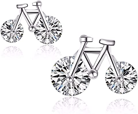 GUOFUREN Sterling Silver Stud Earrings Sterling Silver ...