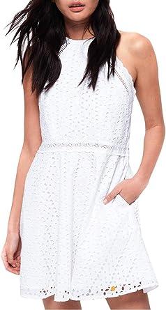 Superdry Vestido Teagan Blanco Mujer: Amazon.es: Ropa y accesorios