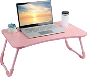 Laptop Desk, Laptop Bed Table, Breakfast Tray, Portable Foldable Laptop Desk, Laptop Table for Bed and Sofa Student Bed Desk Small Foldable Table Lap Desk for Laptop (Red)
