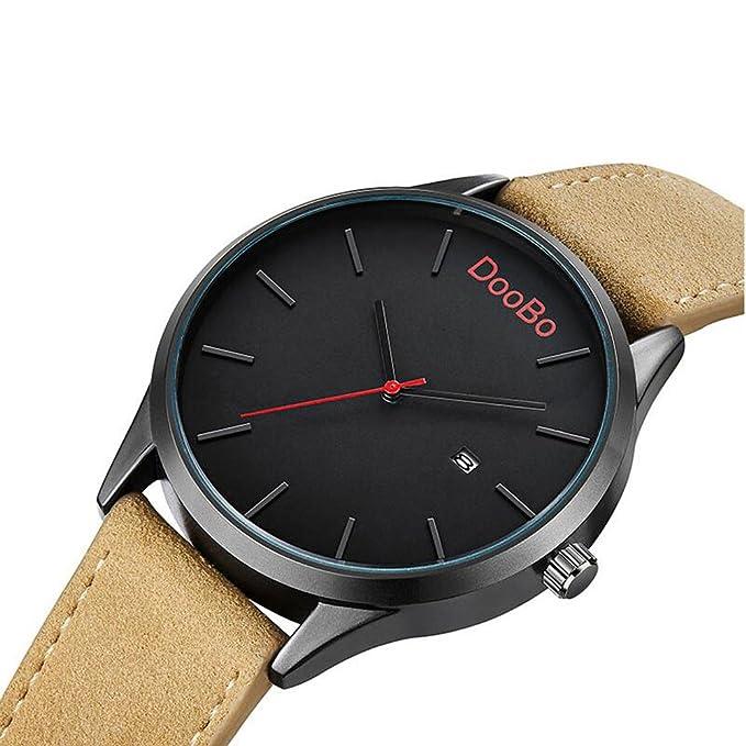 Doobo Impermeable Piel Banda Reloj Classic Cuarzo Para Hombre De uXkPZi