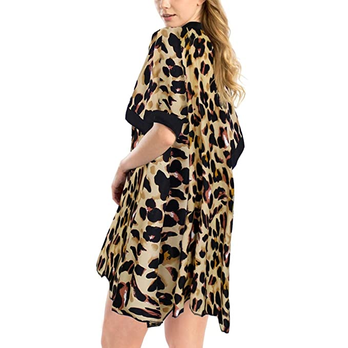 Amazon.com: by you - Kimono para mujer, L: Clothing
