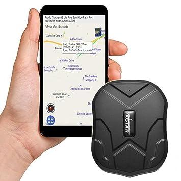 TKSTAR GPS seguimiento de tiempo, largo Standby GPS Tracker Locator con potente imán para coche