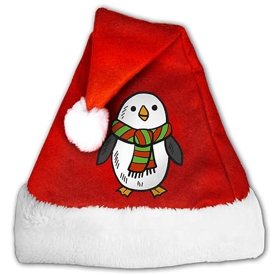 Amazon.com: SOA7Q Penguin Christmas Santa Hats Holiday Decorations ...