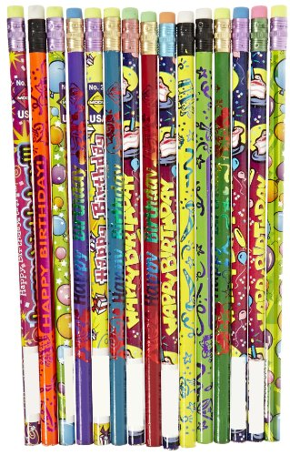 (Moon Products Happy Birthday Award Pencils, Pack of)