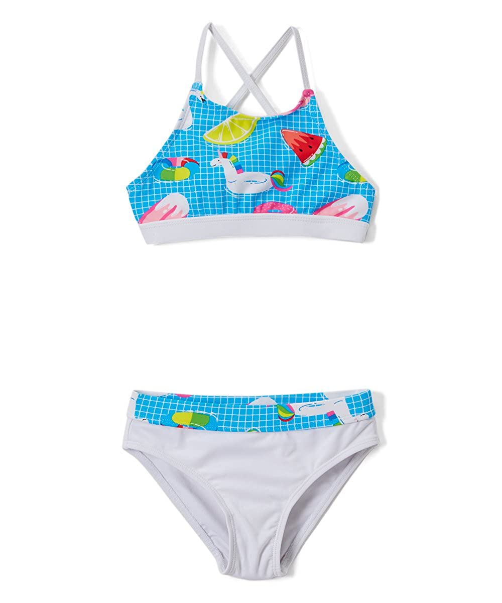 Ingear Girls' Fashion Ruffle Bikini Swimsuit Set UPF 50+ Sun Protection