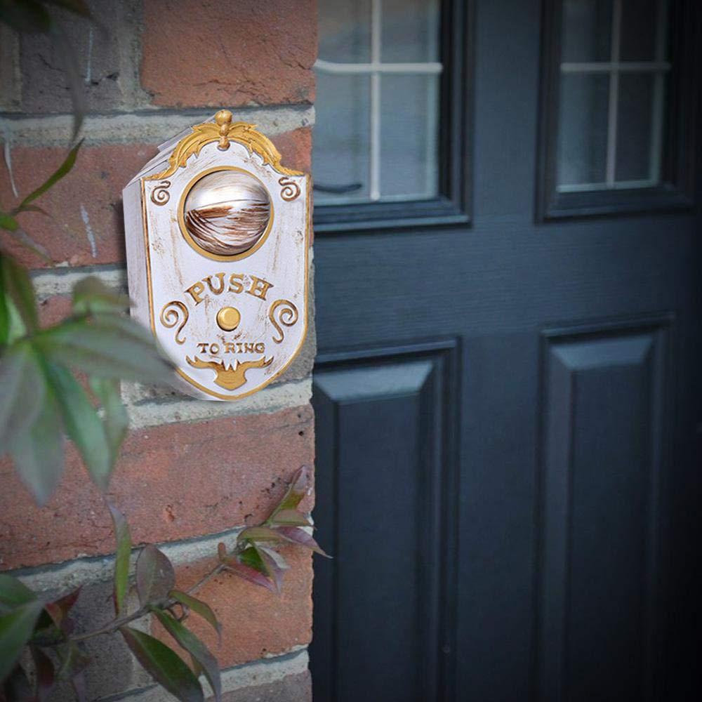 Volwco D/écorations de Sonnette dhalloween Animation de Illuminant la Sonnette du Globe Oculaire Maison Hant/ée Halloween Party Decor