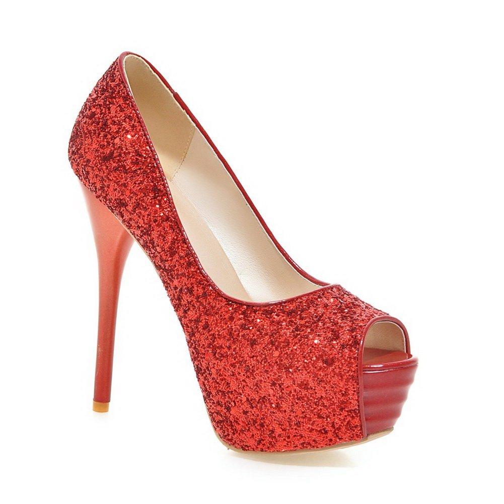 Adee - Zapatos de vestir para mujer 34 Red