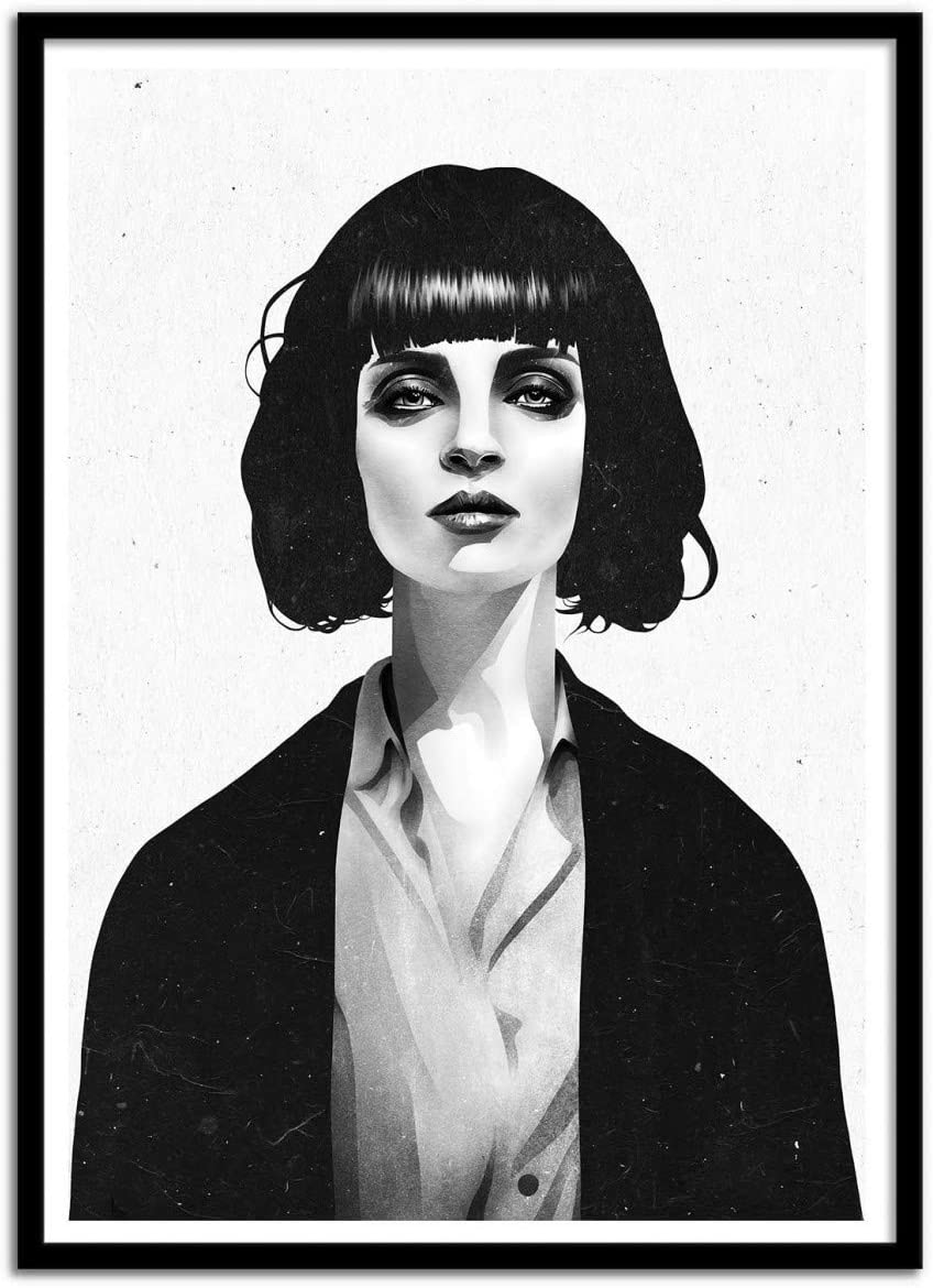 Ruben Ireland Art Póster De – Mrs MIA Wallace 50 x 70 cm: Amazon ...