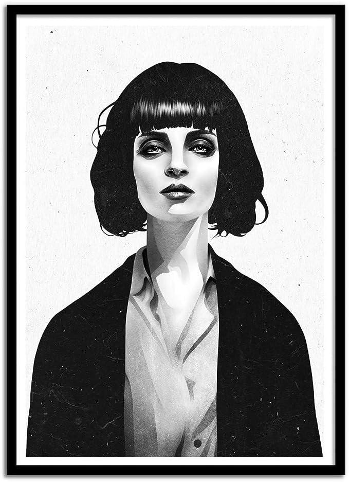 Ruben Ireland Art Póster De – Mrs MIA Wallace 50 x 70 cm: Amazon ...