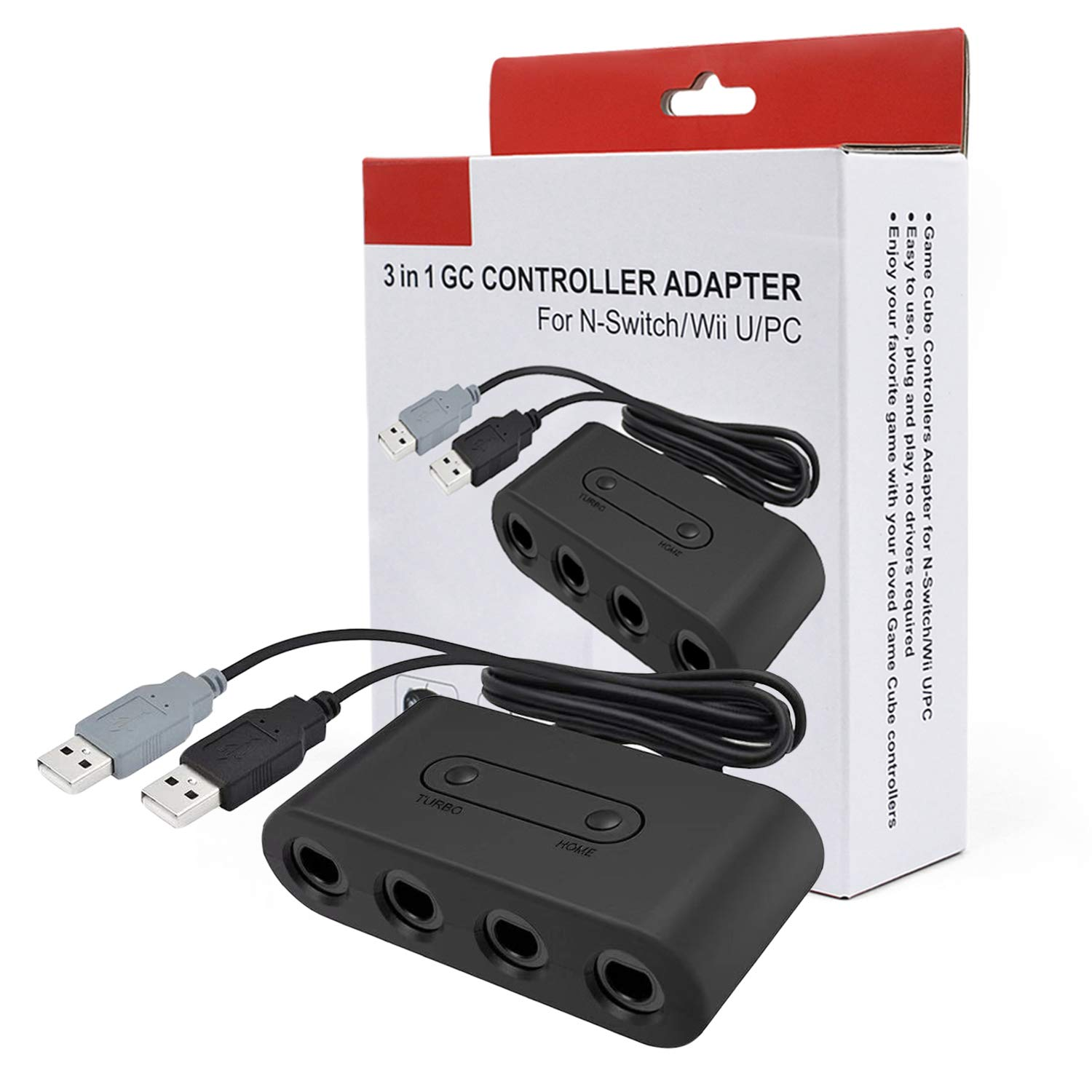 3 In 1 Gc To Wii U Pc Switch Converter Ngc Controller Adapter Game Cube Computer Cable Converter Supplies Consumer Electronics Video Games