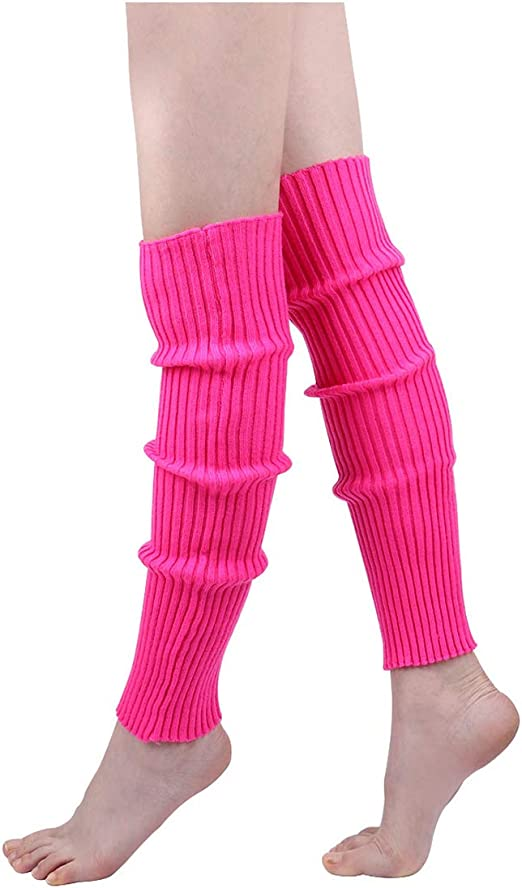 Neon Striped Fishnet Legwarmers or Gloves 1980s Ladies Rave Fancy Dress