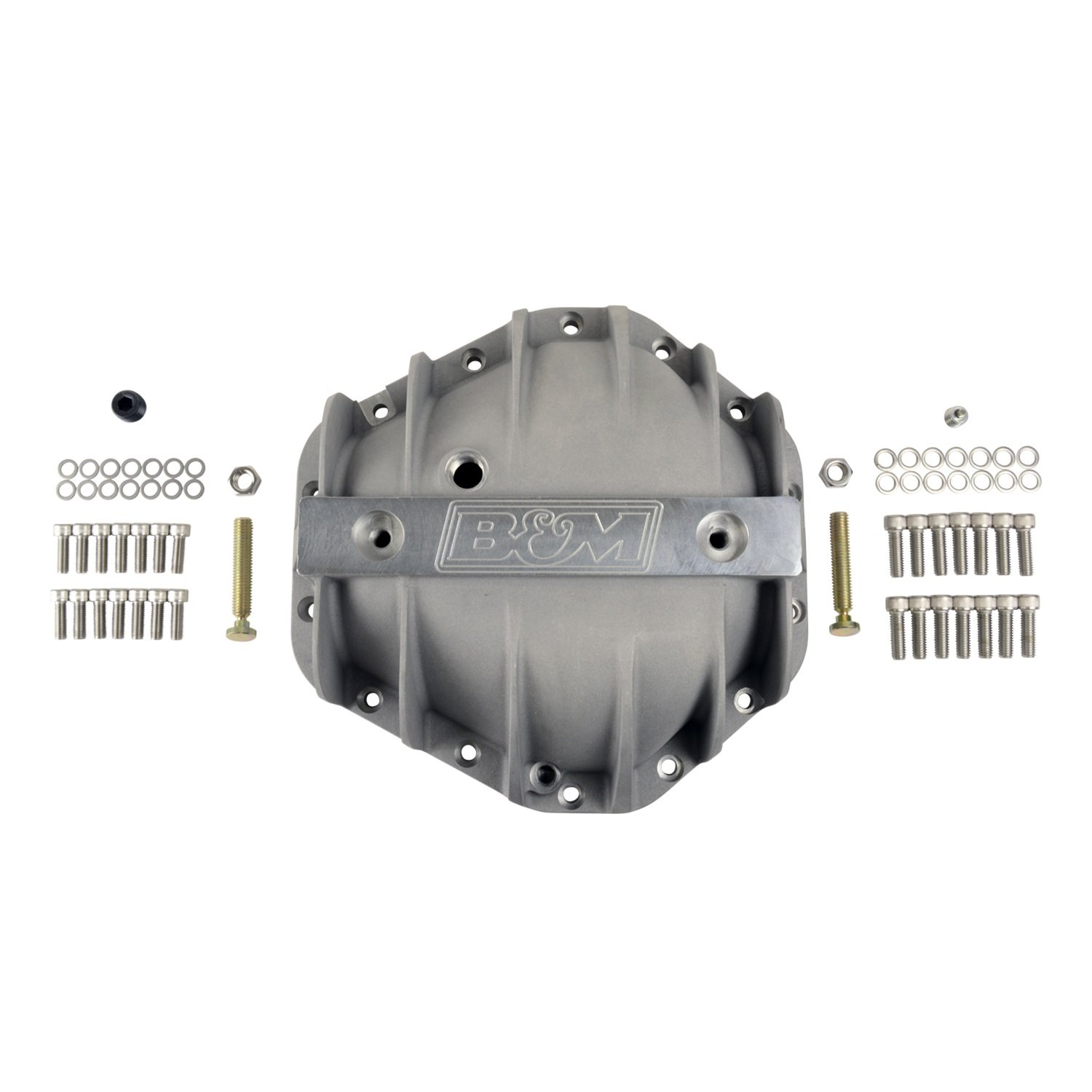 B&M (70501) 10.5' Cast Aluminum 14-Bolt Rear End Differential Cover