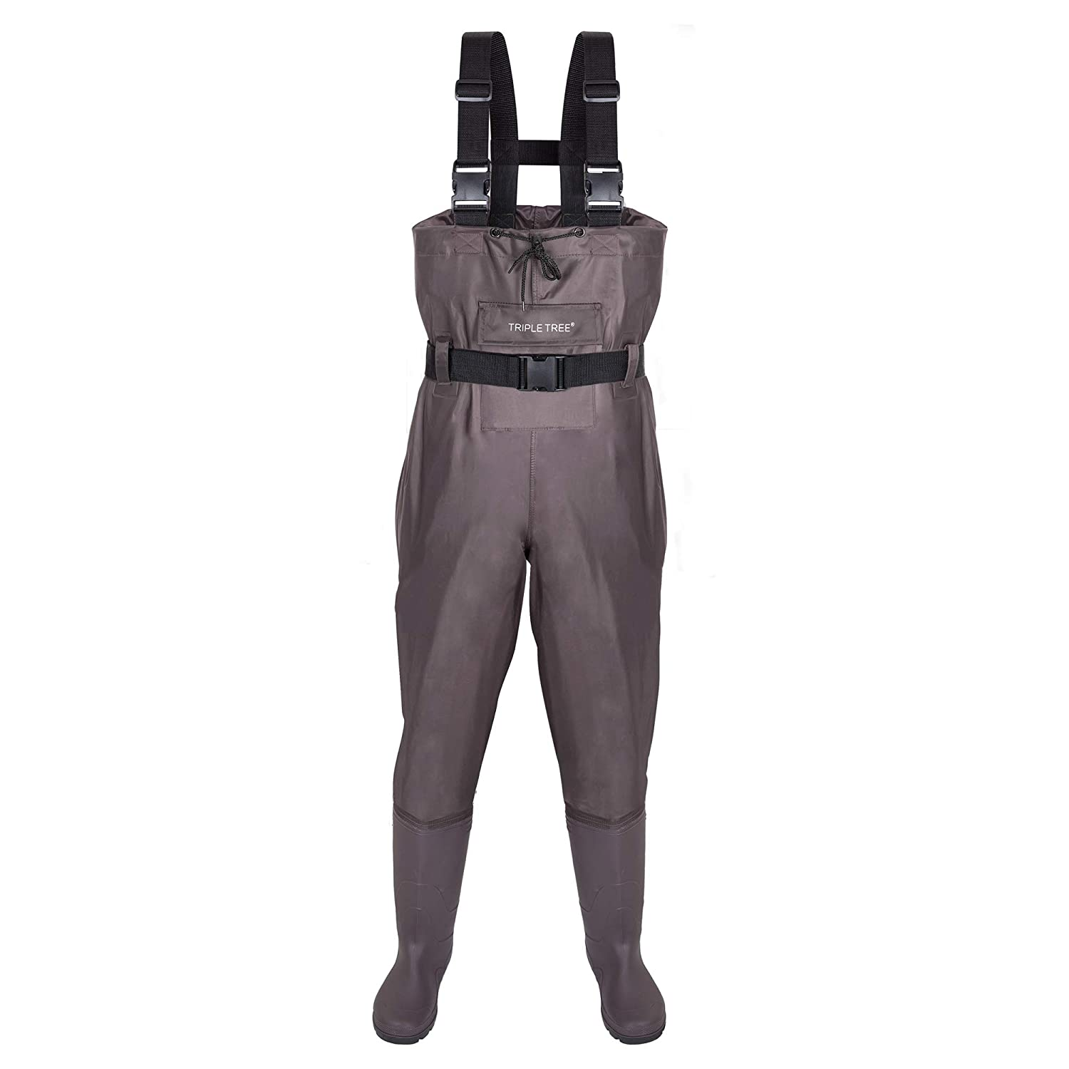 TRIPLE TREE Chest Wader, Hunting Fishing Waders for Men Women with Boots and Wading Belt, Waterproof Nylon PVC Bootfoot Wader Size9-13