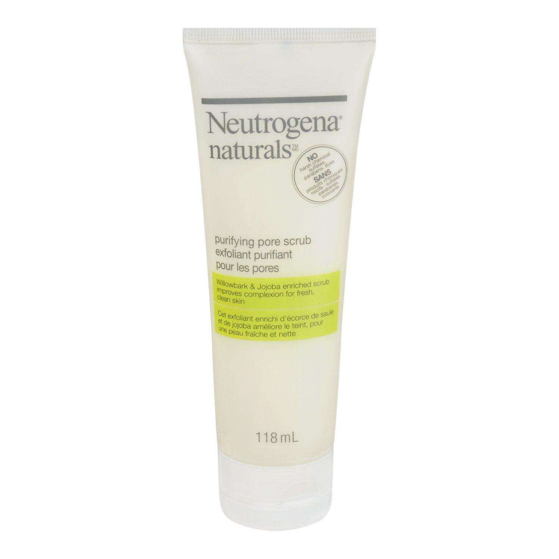 Neutrogena Naturals Face Scrub, Purifying Facial Pore Scrub, 118 mL