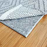 """RUGPADUSA, 8'x10', 1/4"""" Thick, Basics Felt + Rubber Rug Pad, Non-Slip Rug Pad, Adds Cushion and Floor Protection Under Rugs, Safe for all Floors and Finishes"""