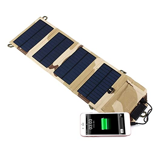DyNamic 5V 7W Portátil Plegable Solar Charger Pack Usb ...