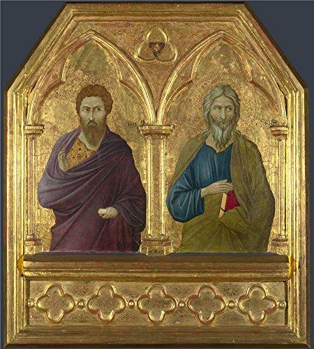 ugolino-di-nerio-saint-bartholomew-and-saint-andrew-oil-painting-12-x-13-inch-30-x-34-cm-printed-on-